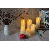 Melted Edge Distressed Red Wax Slim Flameless Candles