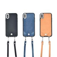 Quality Apple iPhone Cases Crossbody Leather Shoulder Strap Flip Wallet iphone X Case for sale