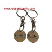 Quality TC-008 cheap promotional trolley coin with custom logo for sale