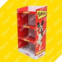 Hook Floor Corrugated Paper Display with Holes