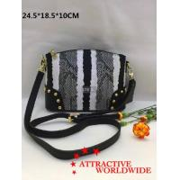 Quality PU Leather Women Bowler Bags in Black and White Pattern for sale