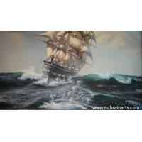 Quality Big Sailboat Oil Painting for sale