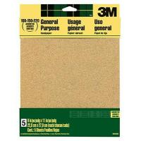 China 5-Pack 9 x 11-Inch 220-Grit Aluminum Oxide Sandpaper on sale