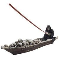 Quality n-Gifts Scary Grim Reaper in Fishing Boat of Skeletons Halloween Decorations for sale