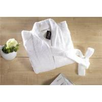 Quality Hot Selling Customized Quick Dry Luxury White Shawl Collar Wholesale Hotel Terry Cloth Bathrobe for sale