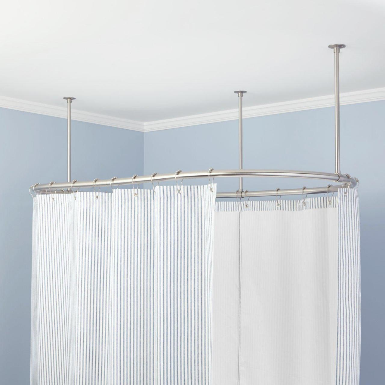 Quality oval shower curtain rods for sale