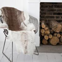 Quality fur chair throw for sale