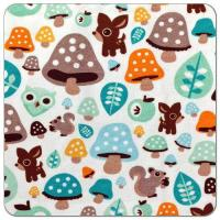 Quality Magical Mushrooms Cotton Spandex Knit Fabric for sale