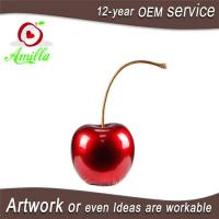 China Attractive Red Resin Single Cherry Sculpture for Home Ornament on sale