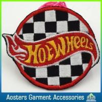 China Custom Felt Round Embroidery Badge Sew on Patches for Coat on sale