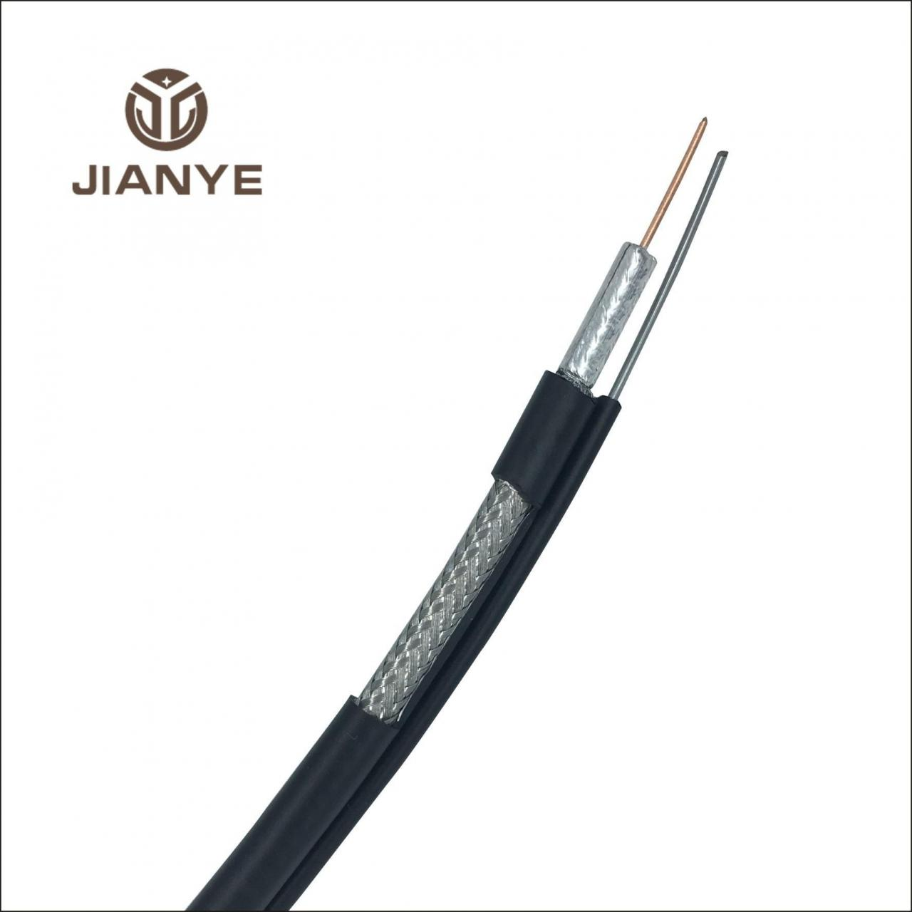 Quality Coaxial Cable RG6 WITH MESSENGER Coaxial Cable for sale