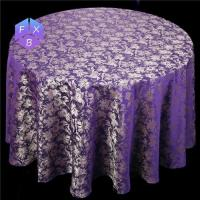 Quality printed flower design polyester table cloth for sale
