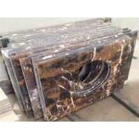 Quality Black Golden Flower Countertop for sale