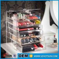 Quality For wholesalers acrylic makeup organizers cosmetic drawer box for sale