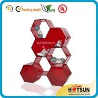 Buy cheap latest technology acrylic shoe store display racks made of 7 hexagons from wholesalers