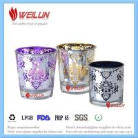 Quality Glass printing electroplating candle holder for sale