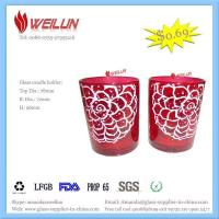Quality Glass printing glass candle holder for sale