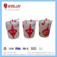 Quality Glass printing frost candle holder traditional for sale