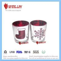 Quality Glass printing votive glass candle holder for sale