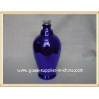 Quality Glass printing Blue glass bottle for sale