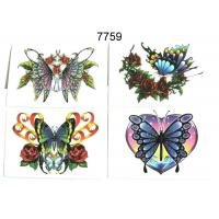 Quality 15 BUTTERFLY DESIGNS GLITTER TATTOO for sale