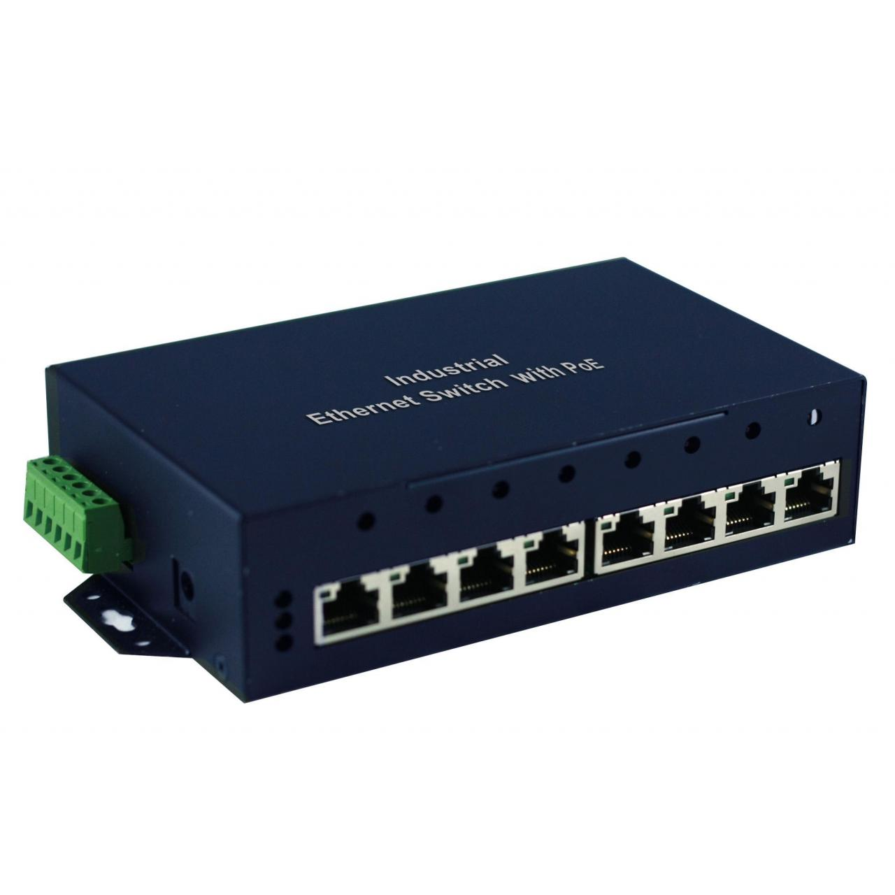 Quality IES-801-I 8-Port Industrial Ethernet Switch with POE for sale
