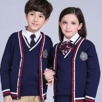 Quality High quality OEM uniform cable knitting fashion british style junior school uniform for sale