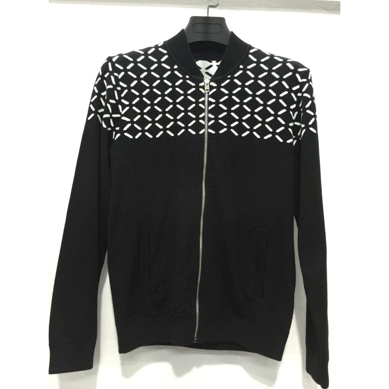 Quality High quality mens jacquard pattern black winter cardigan sweater for sale