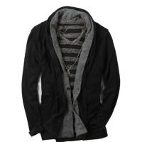 Quality Western style black cardigan shawl neck mens winter coat for sale