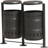 Quality Steel Bins Products Name:Arlau BS11 outside furniture manufacturer garbage waste bins for sale