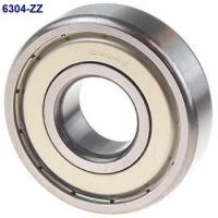 Solid Grease ZZ Seal Type Deep Groove Ball Bearing 6304ZZ 20x52x15mm