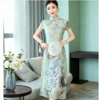Quality new style embroidered elegant women chinese dress qipao20 Set/Sets for sale