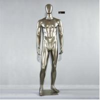 China Fiberglass Mannequin Chrome Plating Muscle Male Mannequin T6 on sale