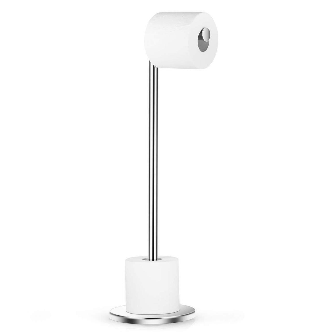 Quality Dailyart Stainless Steel Toilet Paper Holder Free Standing with Reserve Tissu06 for sale