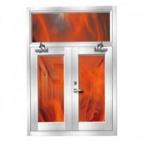 China 90 Minutes fire rating stainless Steel fire window on sale