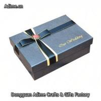 luxury custom jewelry ribbon packaging box with foil Embossed Paper logo