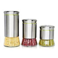 Kitchenware Stainless steel and glass storage jars