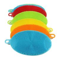 Quality Heat Resistant Antibacterial Silicone Dish Sponge for sale