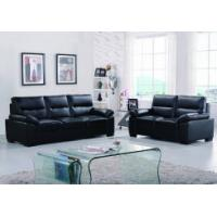 Leather sofas Classical black leather sofa with adjustable headrest