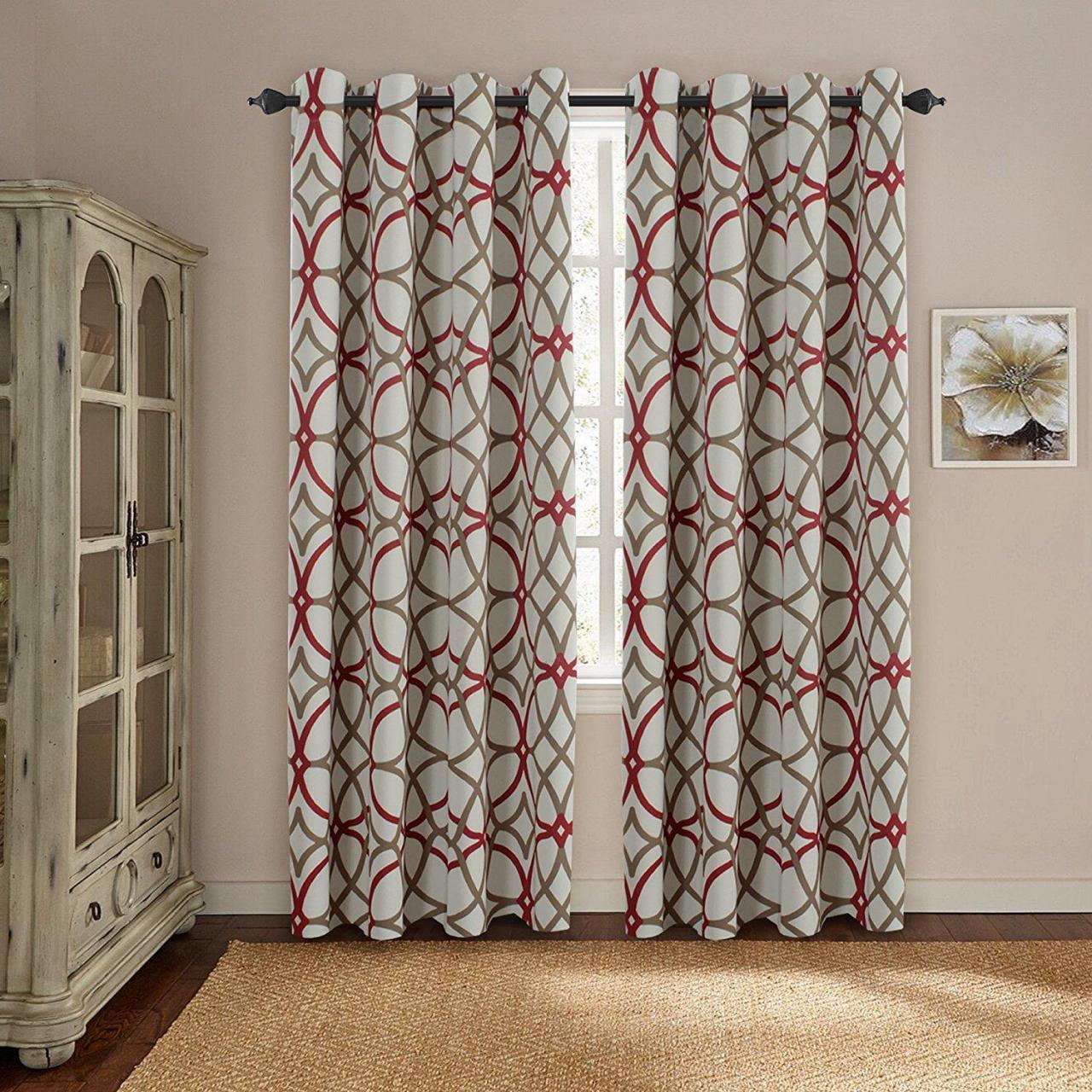 Quality Printing Blackout ready made fabric grommet curtain for living room for sale