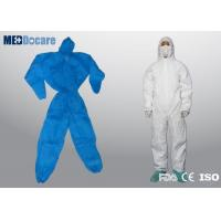 China Disposable dust suits hooded with elasticated cuffs and ankles hygienic application on sale