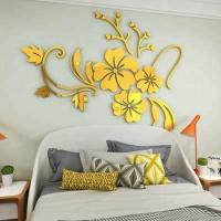 design Decorative removable 3D acrylic frame mirror wall stickers