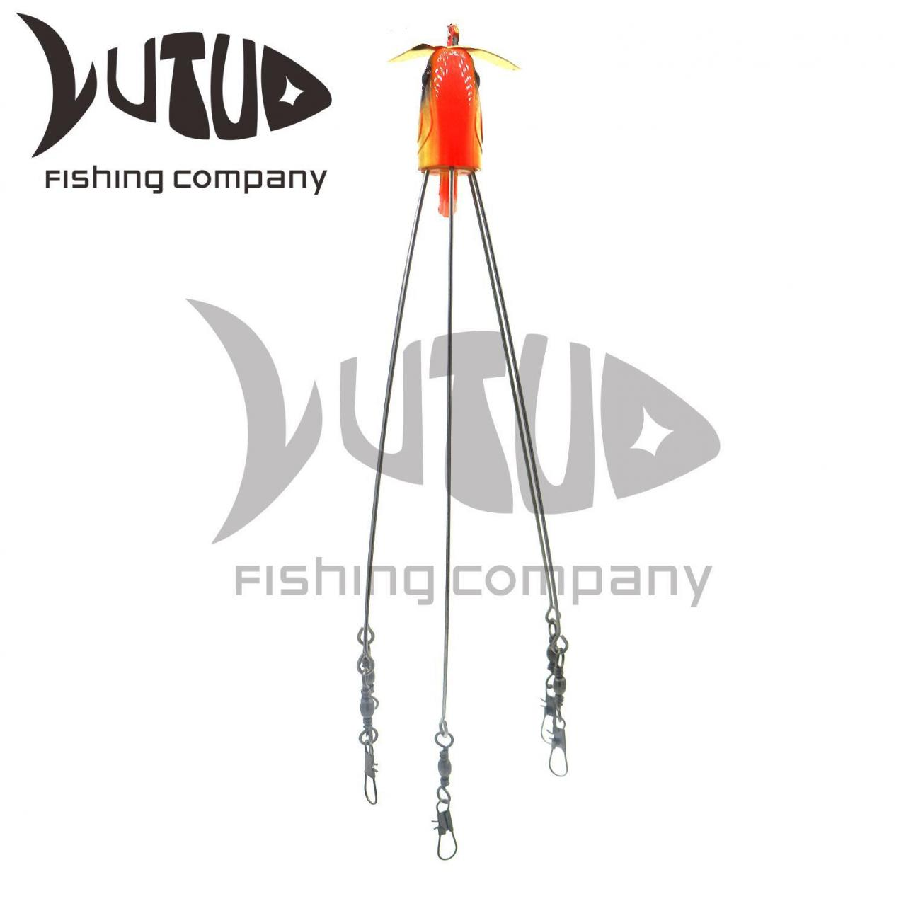 Quality Spinning Fishing Lure 7.87 Inches 3D Eyes Fishing Metal Jig Trolling Umbrella Rig for sale
