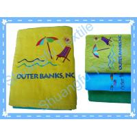 China 100% Cotton Velvet Embroidery Beach Towel SF-140 on sale