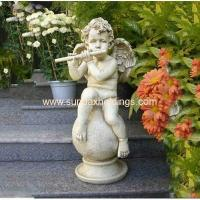 Quality Garden Series SF28712A- Musical Garden Resin Large Angel Statue for sale