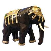 Buy cheap EXP Handmade Decorative Wood Elephant Sculpture Figurine from wholesalers