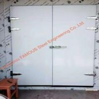 Buy cheap Insulated Frozen Sliding Door cold room glass door with hinged swing device for cold storage from wholesalers