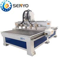 Buy cheap Multi head 5 heads router cnc machine for engraving carving artware mural art artwork embossed wood from wholesalers
