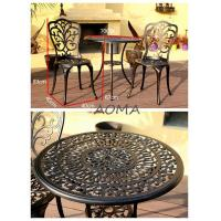 Buy cheap cast alu.chair and table cast aluminum 3 piece set from wholesalers