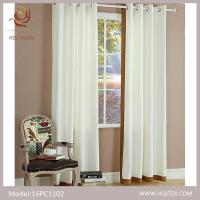Quality HQJ Textile solid color 52*84inch grommet curtain for sale